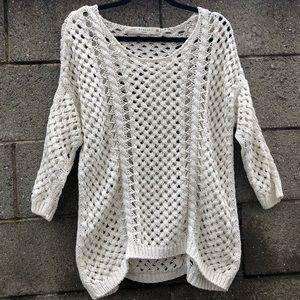 ZARA KNIT Off White Sweater Gorgeous SZ M